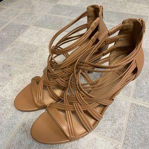 New INC Gustava Strappy Cone Heel Sandals